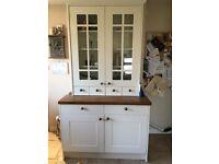 White Kitchen Display Cabinet