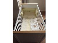 Baby white cot