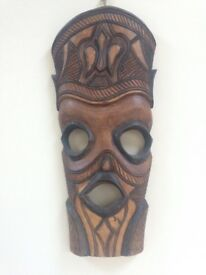 African decorative wooden mask