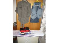 bundle of assorted tops size 10, flared jeans and shirt top
