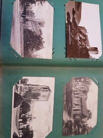 Old 1905 Postcard album with Churches