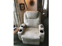 Leather Riser Recliner Chair, heated & massager, mint condition