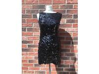 Black Sequin Dress Size 8/10