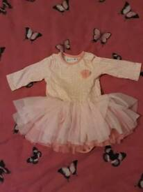 Baby Girl Sweet Pink Dress 0-3 Months