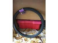 "New Halfords 24"" x 1.75"" (47 x 507 mm) tyre fits junior mountain bikes"