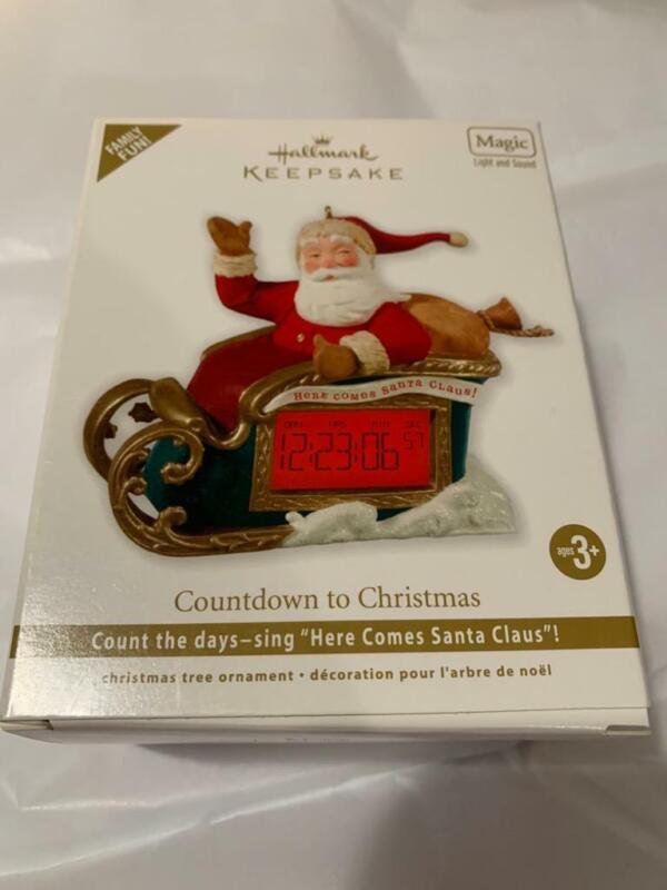 Hallmark Keepsake Ornament 2012 Countdown to Christmas Sleigh Santa Magic Clock