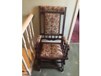 Antique Fully restored American Rocking Chair - £100