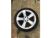 """MERCEDES BENZ GENUIN 18"""" ALLOY WHEEL WITH 245/40/18 TYRE"""