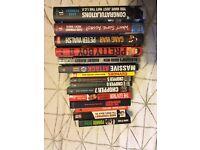 Job lot of crime books VGC