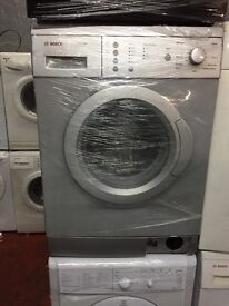 nice silver Bosch washing machine 6kg 1200 spin in excellent condition in full working order