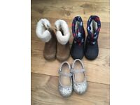 Girls boots and party shoes size 6