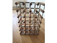 25 bottles wine rack in pine