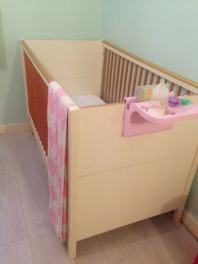 Baby cot with mattress & matching changing unit mothercare