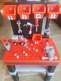 Boys black and decker bench and tools