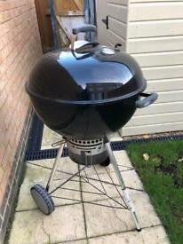 Weber charcoal BBQ & chimney starter