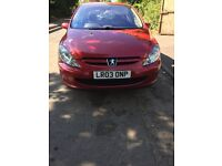 2003 Peugeot 307 Lx Hdi 5dr 1.4 Diesel Red BREAKING FOR SPARES