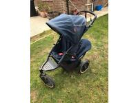 Phil & Teds sport inline double buggy