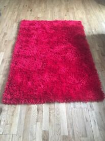 Red Shaggy Rug livingroom/lounge/bedroom