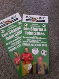 VIP tickets for lee Sharpe and john stiles