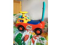 Micky mouse sit and ride car