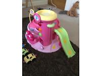 ELC Pink garage and cars