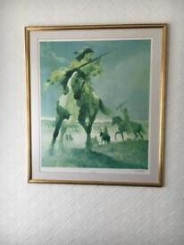Signed print by Kenneth Riley