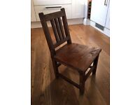 Vintage Old Child's Wooden Chair perfect teddy bear display seat