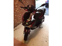 Black Gilera Runner moped scooter in excellent condition