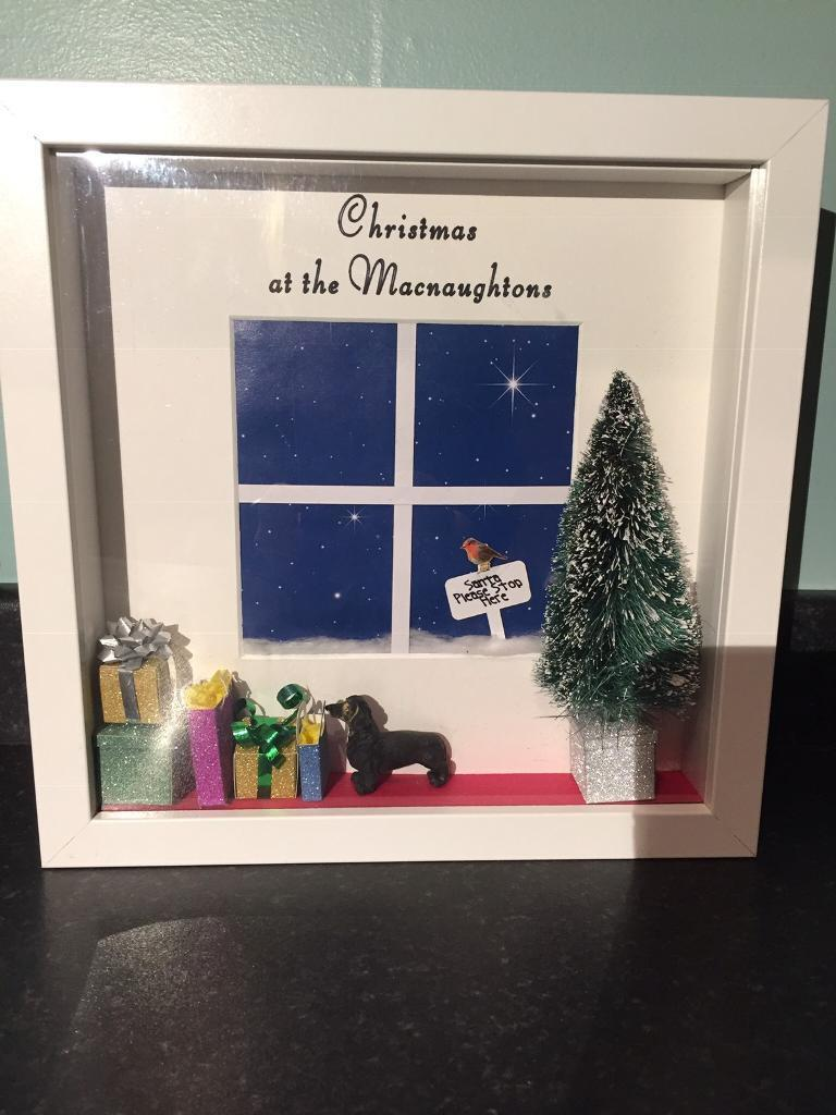 Christmas Window Scene Light Up Frame Personalised If Requested In