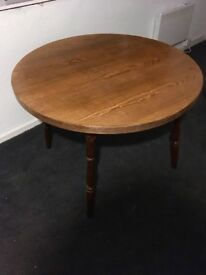Wooden circular table