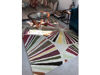 100% Wool Rug with a bright modern pattern 160cm x 230cm