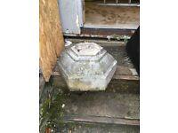 York stone pillar /column bird table base