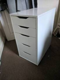 Drawer unit, white - Collection only