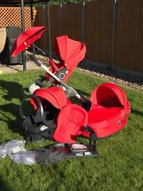 Stokke Crusi in red