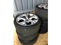 """Genuine Jaguar F type 20"""" storm alloys and tyres"""