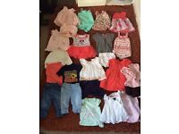 Baby girl big clothes bundle 3-6 months