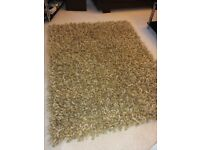 Wool rug - spiky, natural shades (Octopus, Angelo)