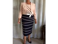Stunning blush/navy mother of the bride/groom dress and jacket