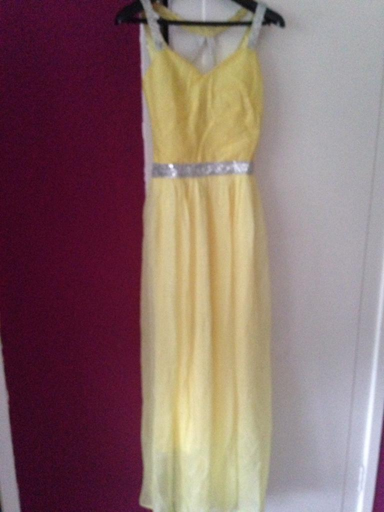 Yellow formal party dress