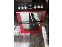 Stoves FSE60E 60cm Double Electric Cooker in Red & Black #5131