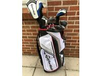 TaylorMade SLDR Golf Clubs & Stewart Golf Trolley