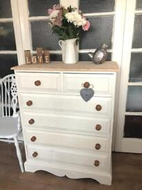 Tallboy Solid wood chest Free Delivery Ldn🇬🇧