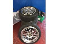 Cades eros alloy wheels tyres 16 inch 5x100 a3 golf