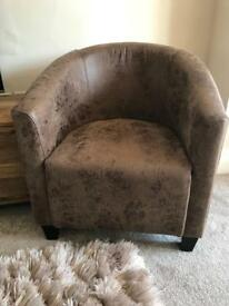 Vintage leather chair new