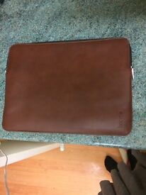 NEW Real Leather Knomo Laptop Case worth around £60