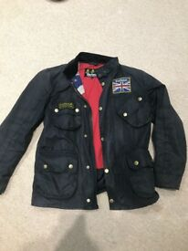 Barbour international wax jacket, union jack