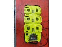 Ryobi 6 port battery charger