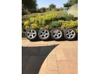 4 x 17 inch Wolfrace wheels and winter tyres to fit Ford Smax or similar
