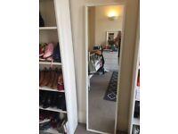 IKEA white full length mirror