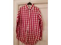 TM Lewin limited edition red and white shirt